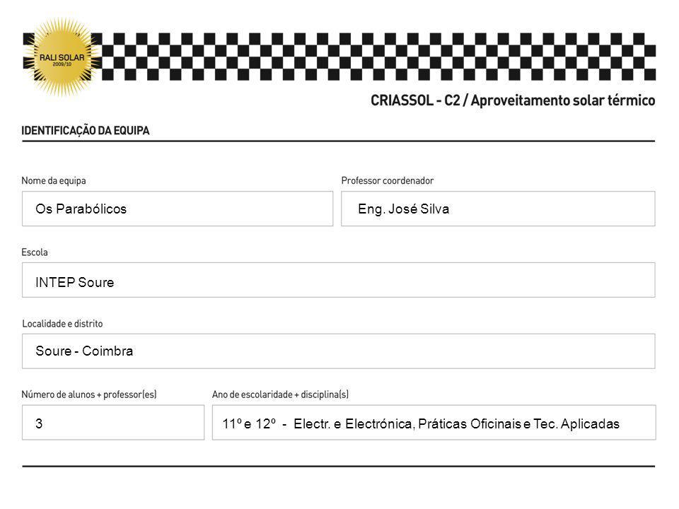 Eng. José Silva INTEP Soure Soure - Coimbra 11º e 12º - Electr. e Electrónica, Práticas Oficinais e Tec. Aplicadas Os Parabólicos 3