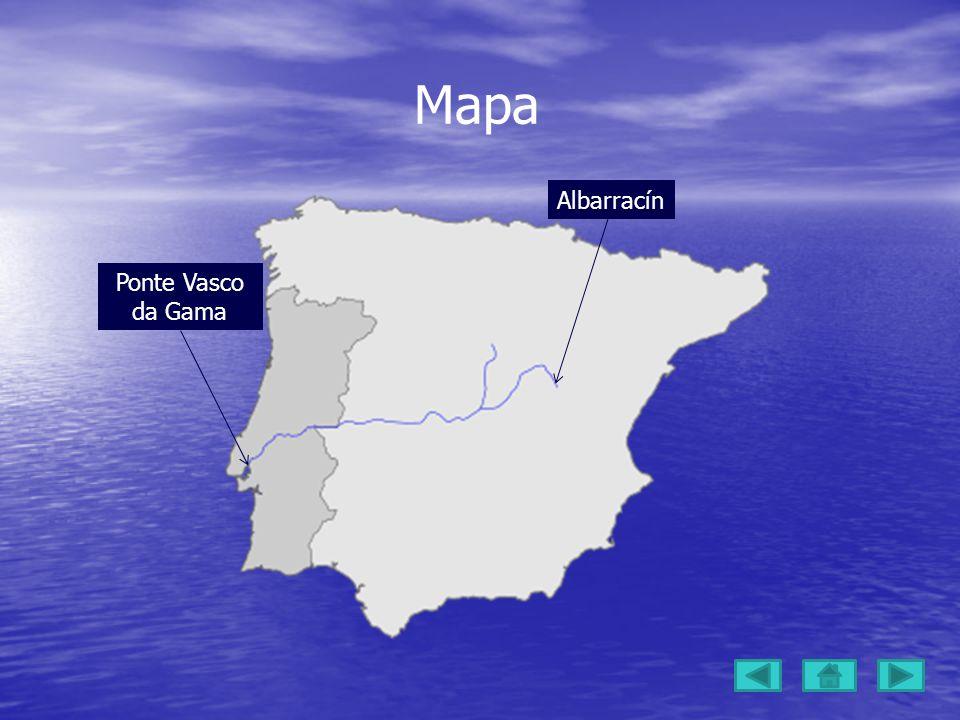 Mapa Ponte Vasco da Gama Albarracín