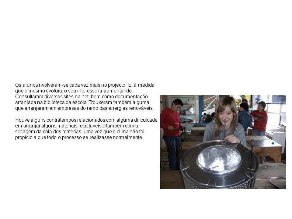 Os alunos nvolveram-se cada vez mais no projecto.