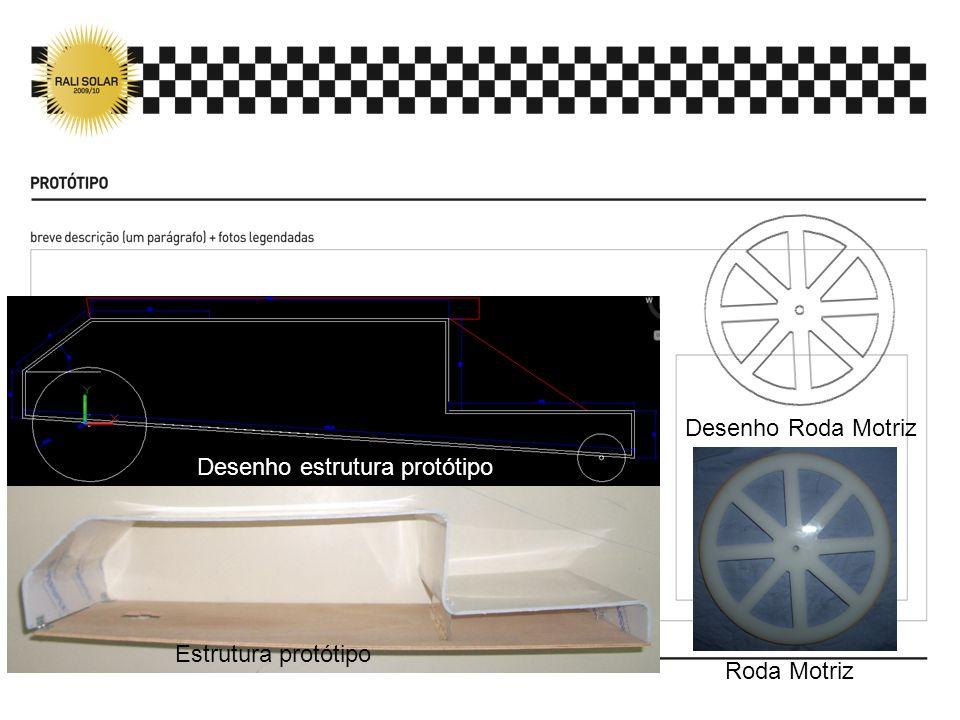 Desenho estrutura protótipo Estrutura protótipo Desenho Roda Motriz Roda Motriz