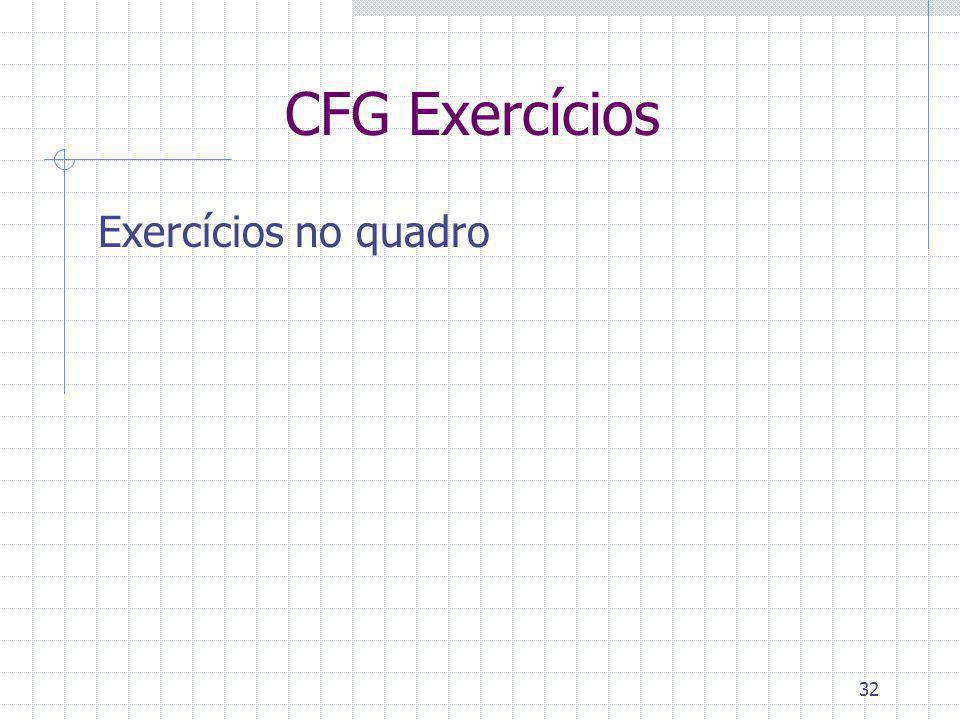 32 CFG Exercícios Exercícios no quadro