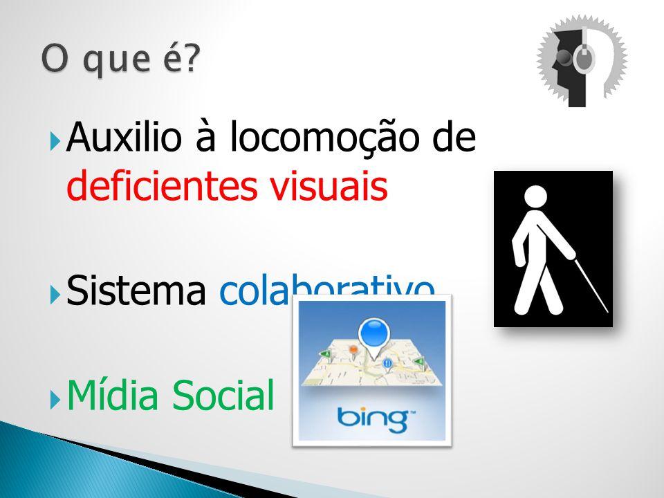 Auxilio à locomoção de deficientes visuais Sistema colaborativo Mídia Social