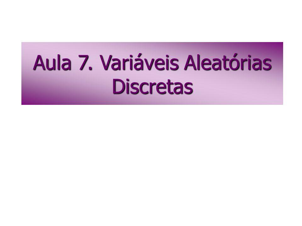 Aula 7. Variáveis Aleatórias Discretas