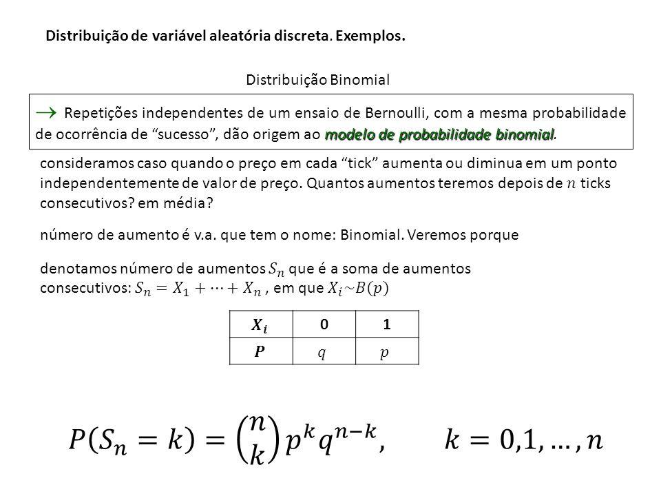 Exemplo: Exemplo: Um dado equilibrado é lançado 3 vezes.