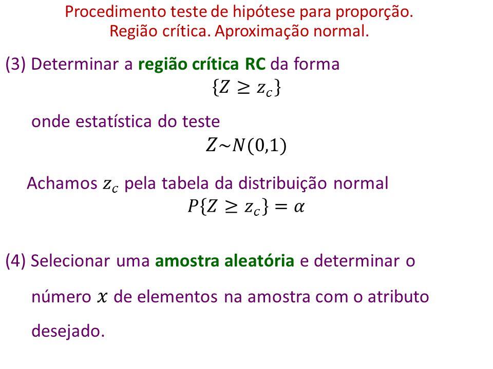 Assim, P pequeno rejeitamos H P não pequeno não rejeitamos H Quão pequeno deve ser o valor de P para rejeitarmos H .