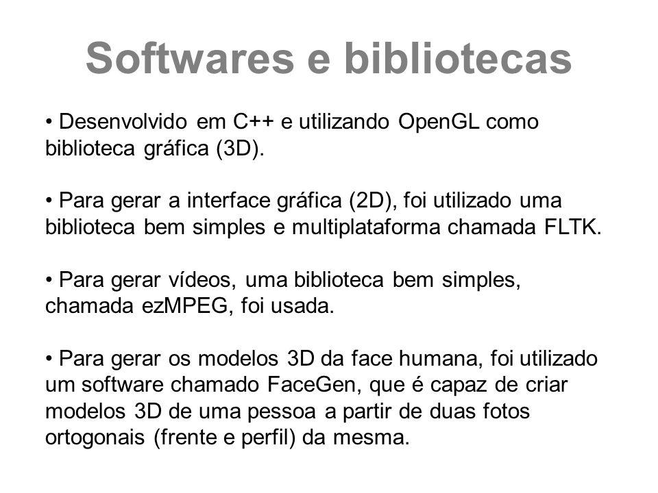 Desenvolvido em C++ e utilizando OpenGL como biblioteca gráfica (3D). Para gerar a interface gráfica (2D), foi utilizado uma biblioteca bem simples e