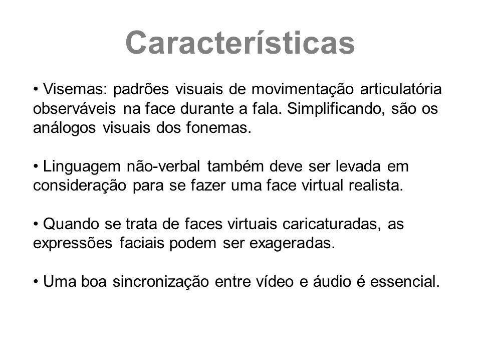 Visemas: padrões visuais de movimentação articulatória observáveis na face durante a fala. Simplificando, são os análogos visuais dos fonemas. Linguag