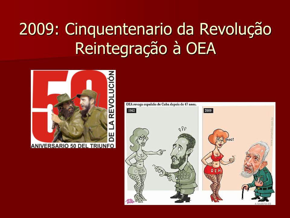 2009: Cinquentenario da Revolução Reintegração à OEA