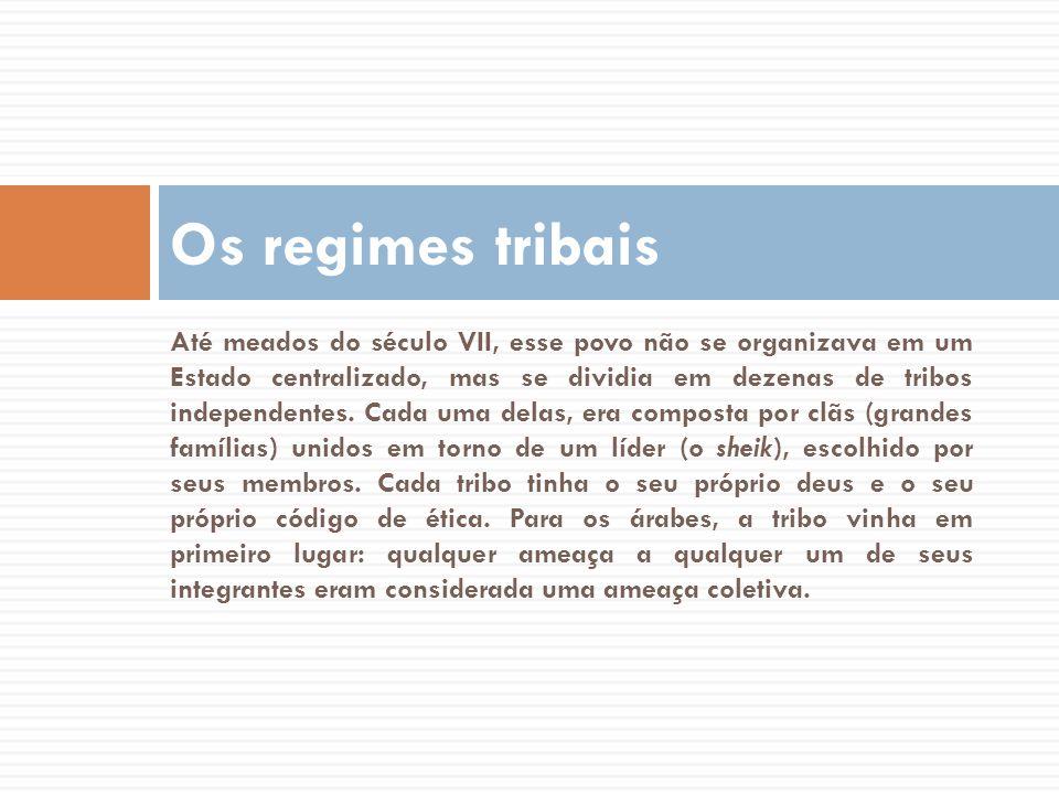 Até meados do século VII, esse povo não se organizava em um Estado centralizado, mas se dividia em dezenas de tribos independentes. Cada uma delas, er