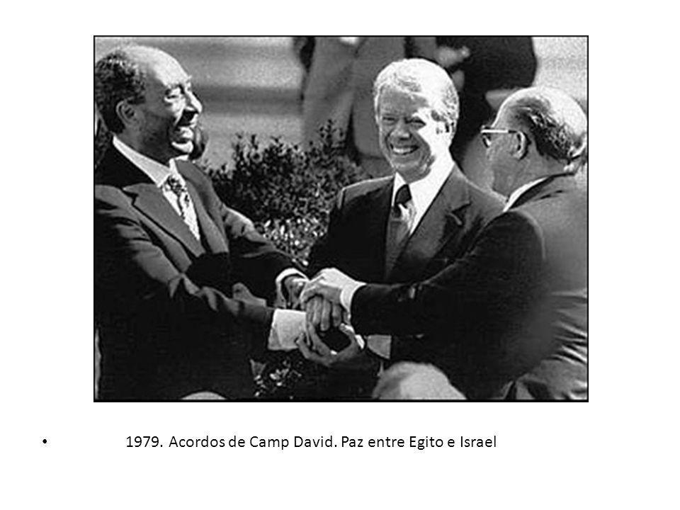 1979. Acordos de Camp David. Paz entre Egito e Israel