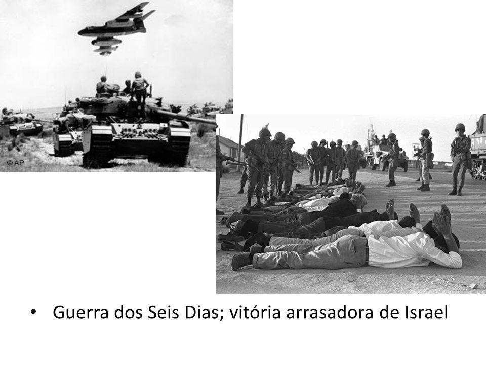 Guerra do Yon Kippur em 1973. Israel contra Egito e Síria