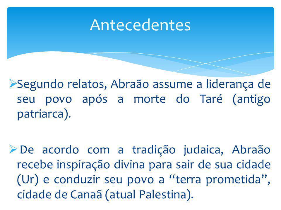 Segundo relatos, Abraão assume a liderança de seu povo após a morte do Taré (antigo patriarca). De acordo com a tradição judaica, Abraão recebe inspir