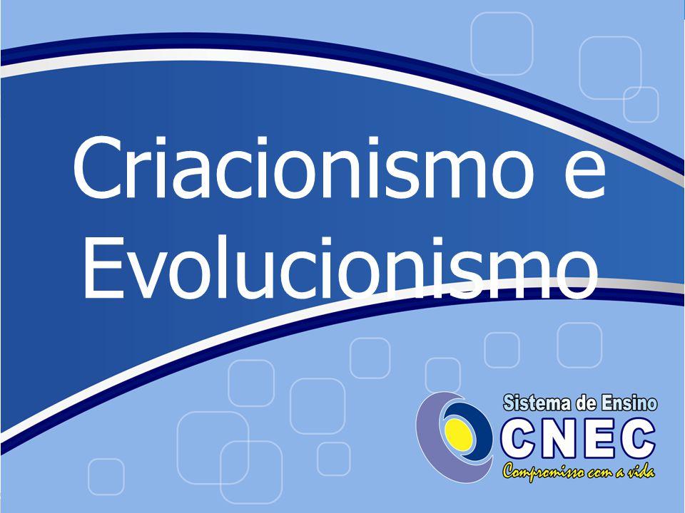 Criacionismo Ser superior (Divindade) criou os seres vivos Não mudam ao longo do tempo Disponível em: http://www.suza.com.br/?p=1173.