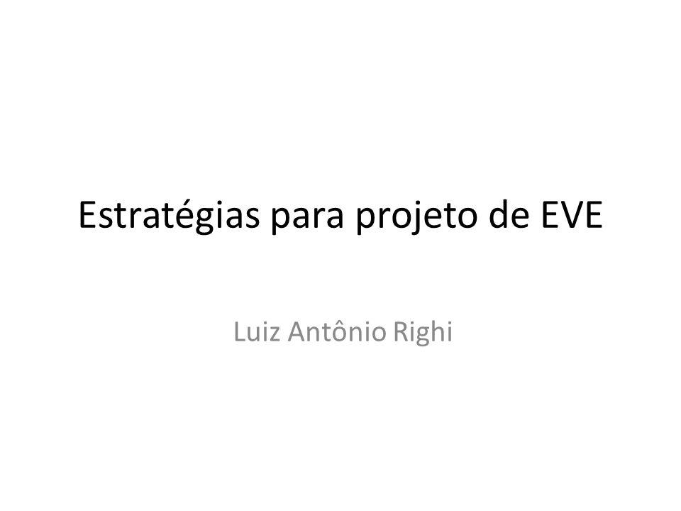 Estratégias para projeto de EVE Luiz Antônio Righi