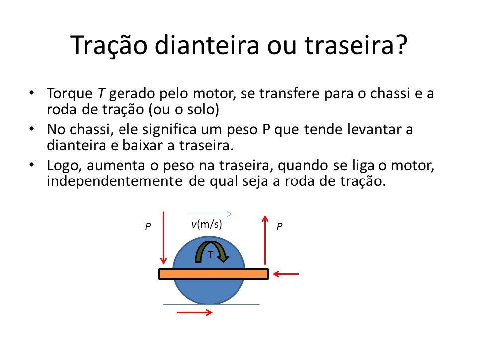 Direção dianteira x traseira A direção dianteira é estável, pois as rodas traseiras tendem a se alinhar suavemente A direção traseira é um equilíbrio instável, e as rodas nunca ficam alinhadas.