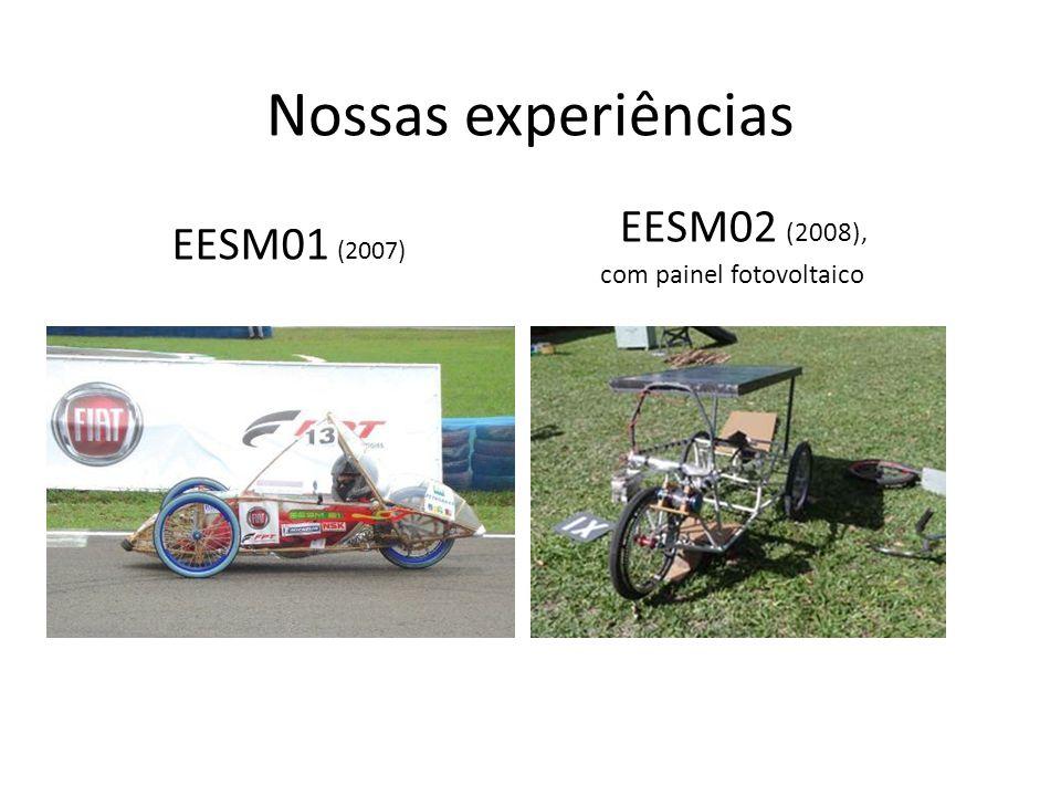 Nossas experiências EESM01 (2007) EESM02 (2008), com painel fotovoltaico
