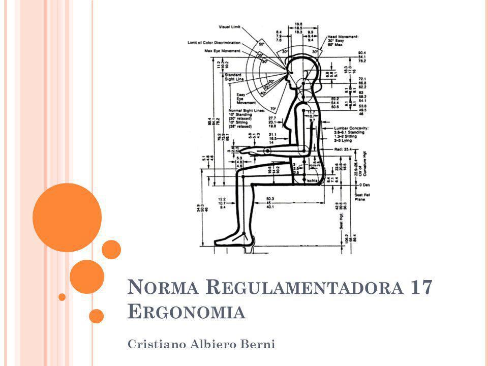 N ORMA R EGULAMENTADORA 17 E RGONOMIA Cristiano Albiero Berni