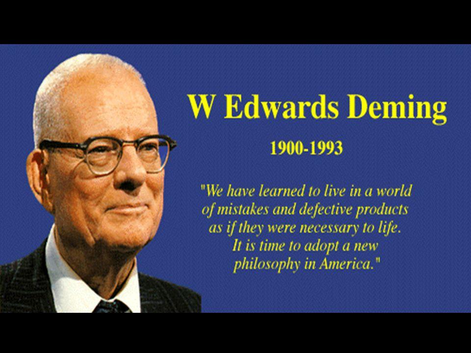 WILLIAM EDWARDS DEMING Nasceu em Sioux City, Iowa, em 14 de outubro de 1900.