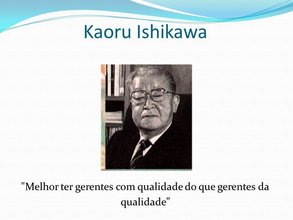 BIOGRAFIA Nasceu em Tokyo, em 1915 e faleceu em 1989; Graduou-se em química; Em 1939 trabalhou como técnico naval; e em 1941 na Nissan Liquid Fuel Company; Em 1949, Ishikawa entrou para o JUSE( União Japonesa de Cientistas e Engenheiros ) ;