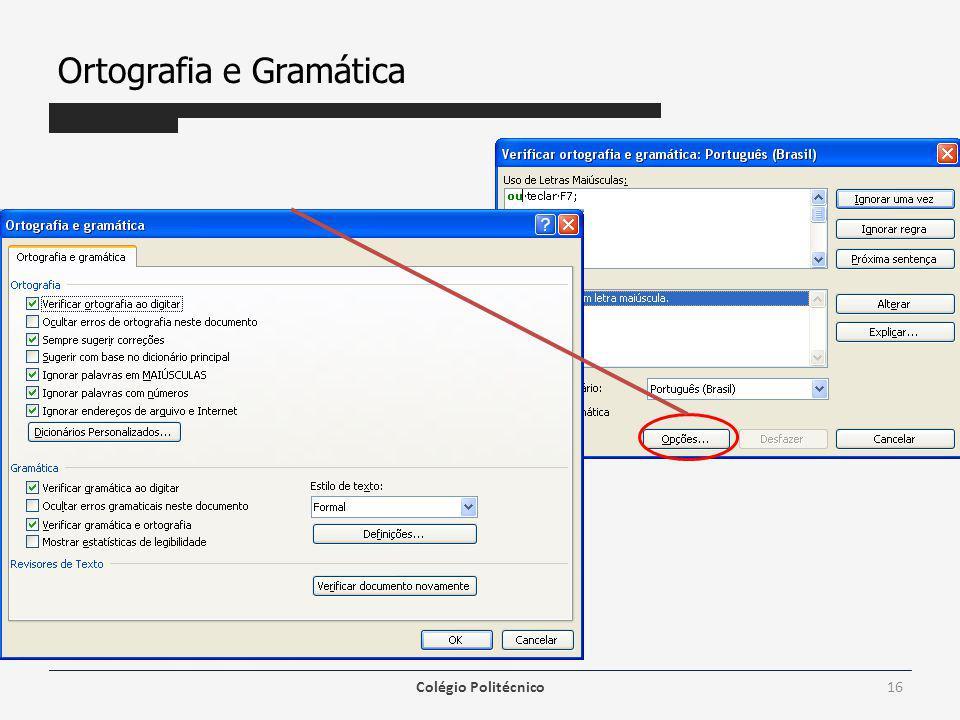 Ortografia e Gramática Colégio Politécnico16