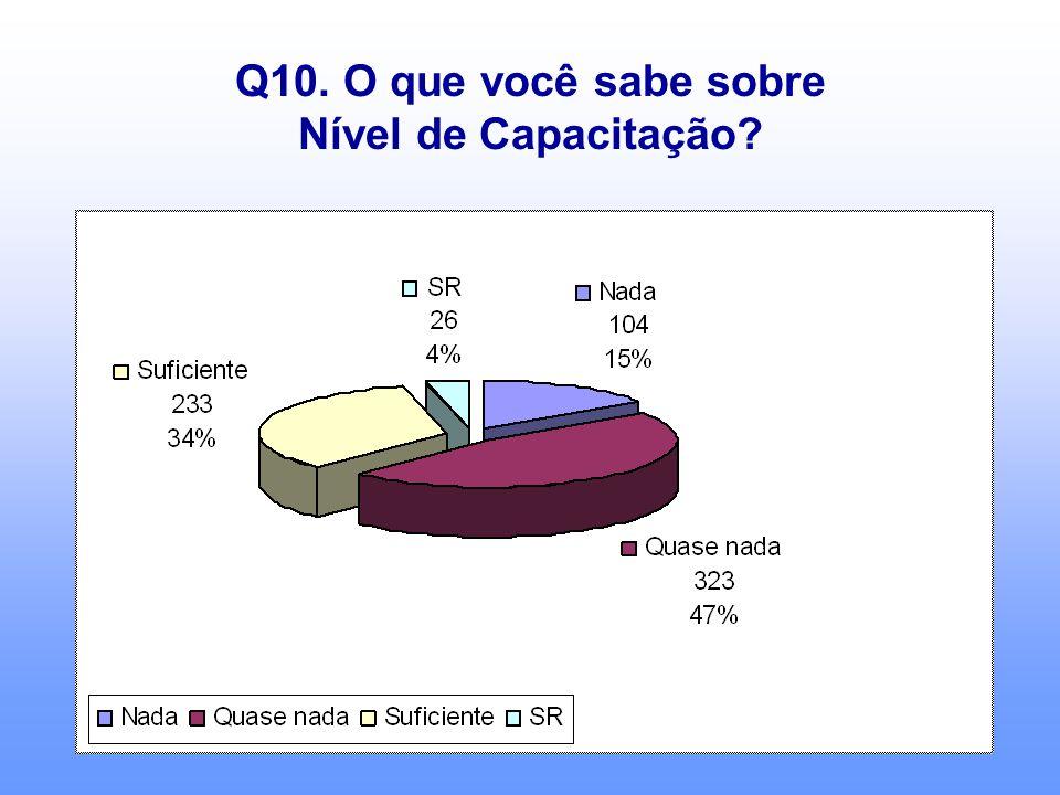 Q10. O que você sabe sobre Nível de Capacitação?