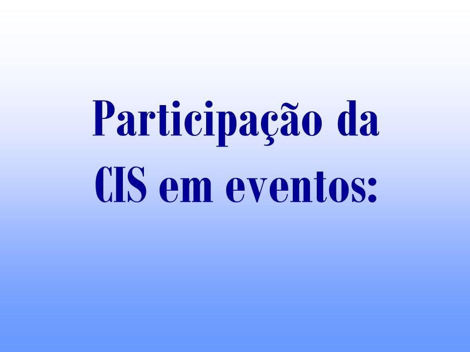 Participação da CIS em eventos: