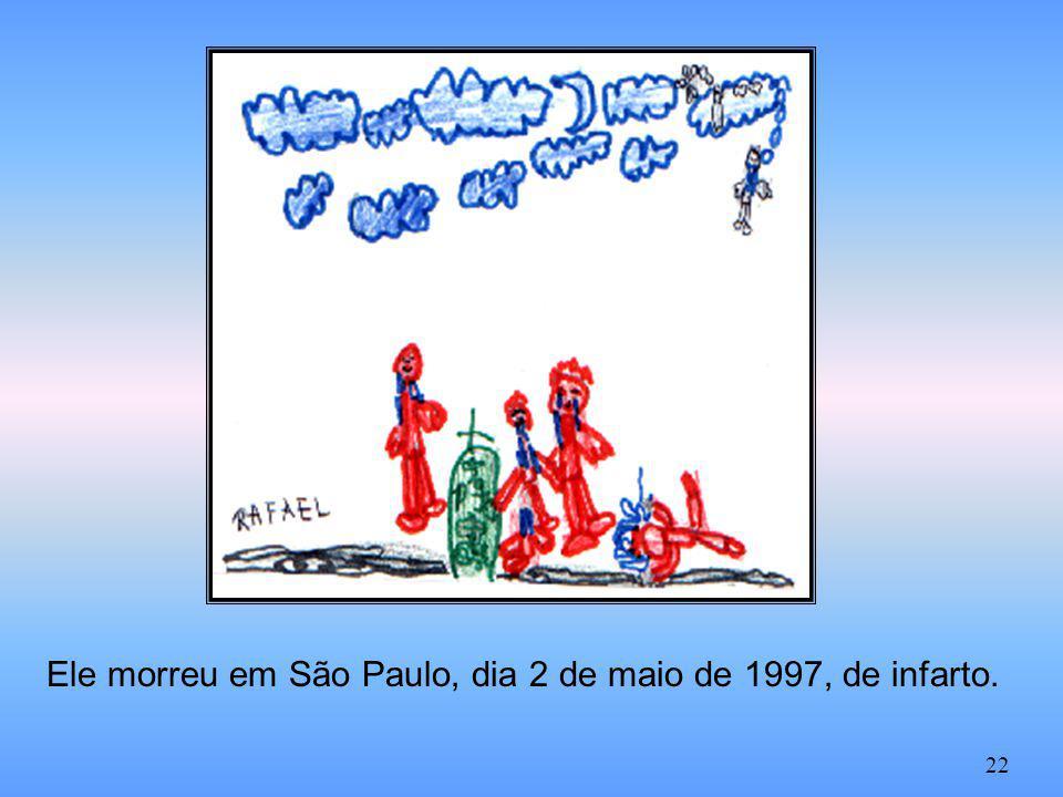 Ele morreu em São Paulo, dia 2 de maio de 1997, de infarto. 22