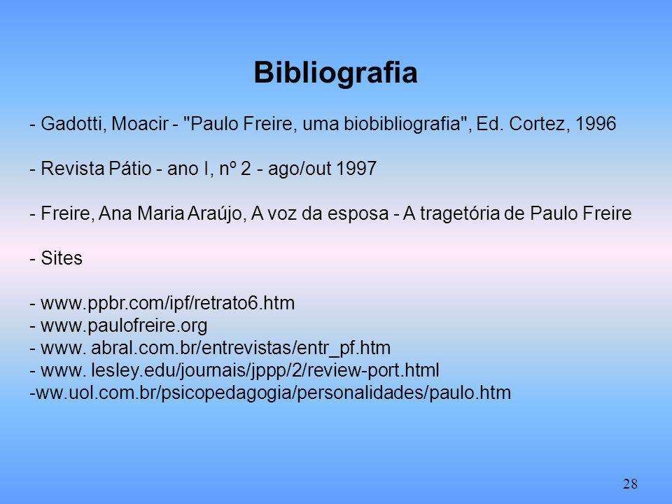 Bibliografia - Gadotti, Moacir -
