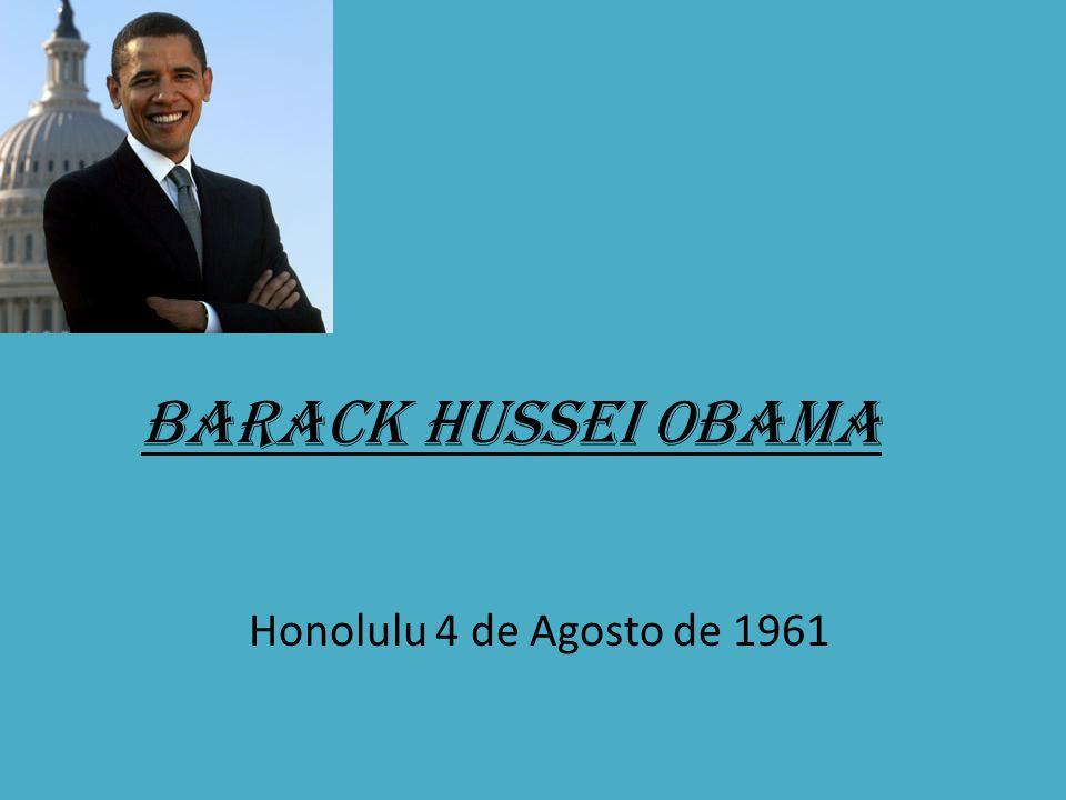 Barack Hussein Obama Advogado, Político, Quadragésimo Quarto e Actual Presidente dos Estados Unidos da América.