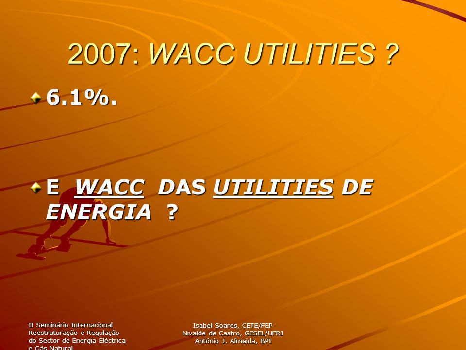 II Seminário Internacional Reestruturação e Regulação do Sector de Energia Eléctrica e Gás Natural Isabel Soares, CETE/FEP Nivalde de Castro, GESEL/UF