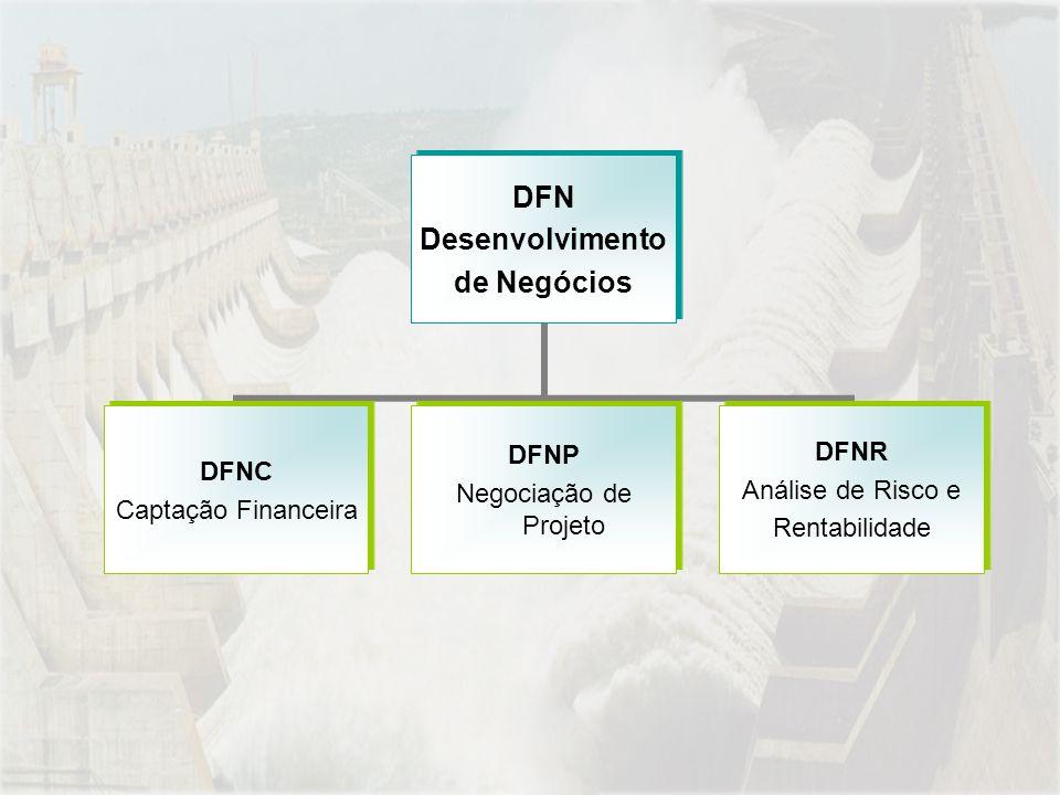 DFN Desenvolvimento de Negócios DFNC Captação Financeira DFNP Negociação de Projeto DFNR Análise de Risco e Rentabilidade