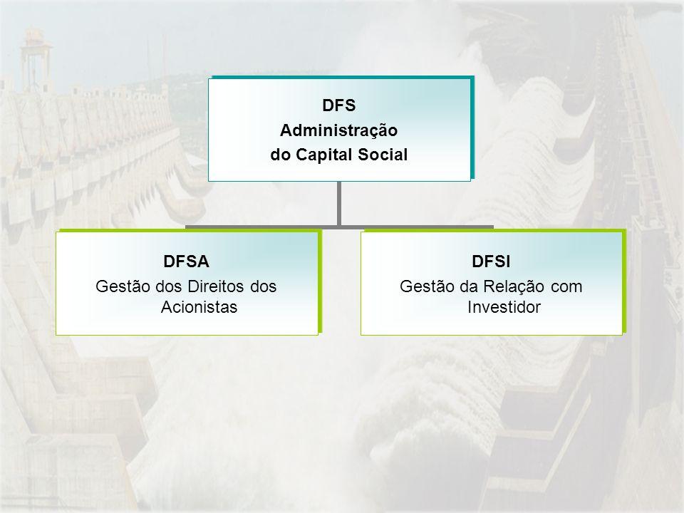 DFS Administração do Capital Social DFSA Gestão dos Direitos dos Acionistas DFSI Gestão da Relação com Investidor