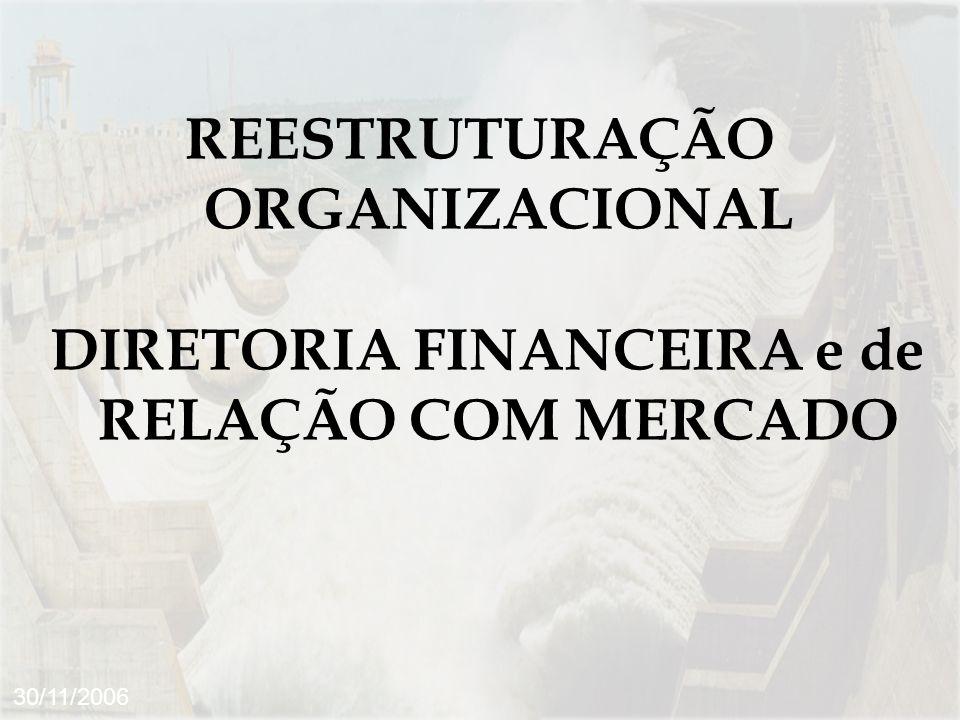 REESTRUTURAÇÃO ORGANIZACIONAL DIRETORIA FINANCEIRA e de RELAÇÃO COM MERCADO 30/11/2006