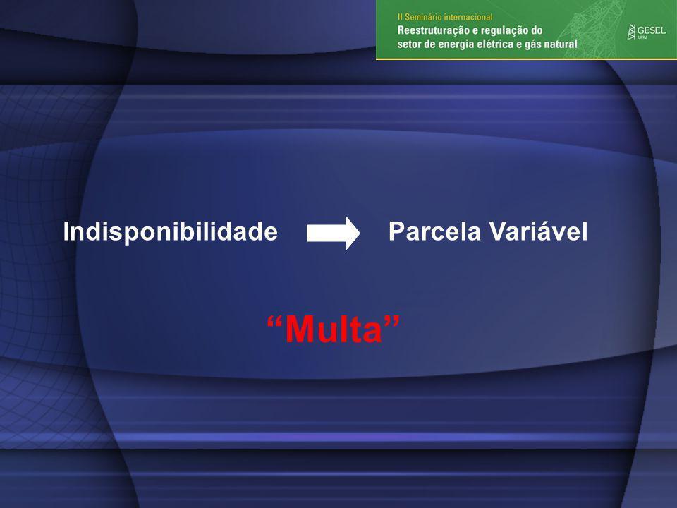 IndisponibilidadeParcela Variável Multa