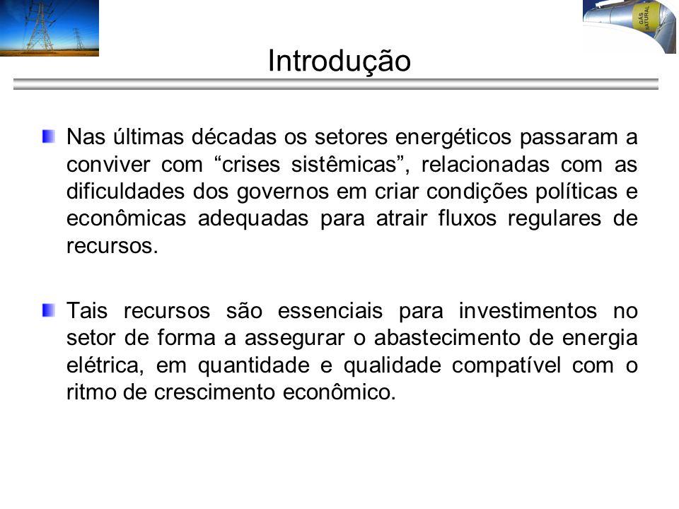 Introdução Ademais, com: –O aumento sustentado da demanda de EE, –As exigências crescentes do mercado por melhoria da qualidade do fornecimento.