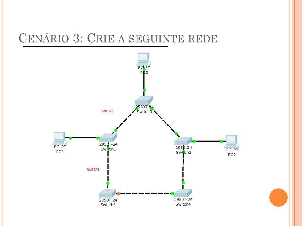 C ENÁRIO 3: C RIE A SEGUINTE REDE