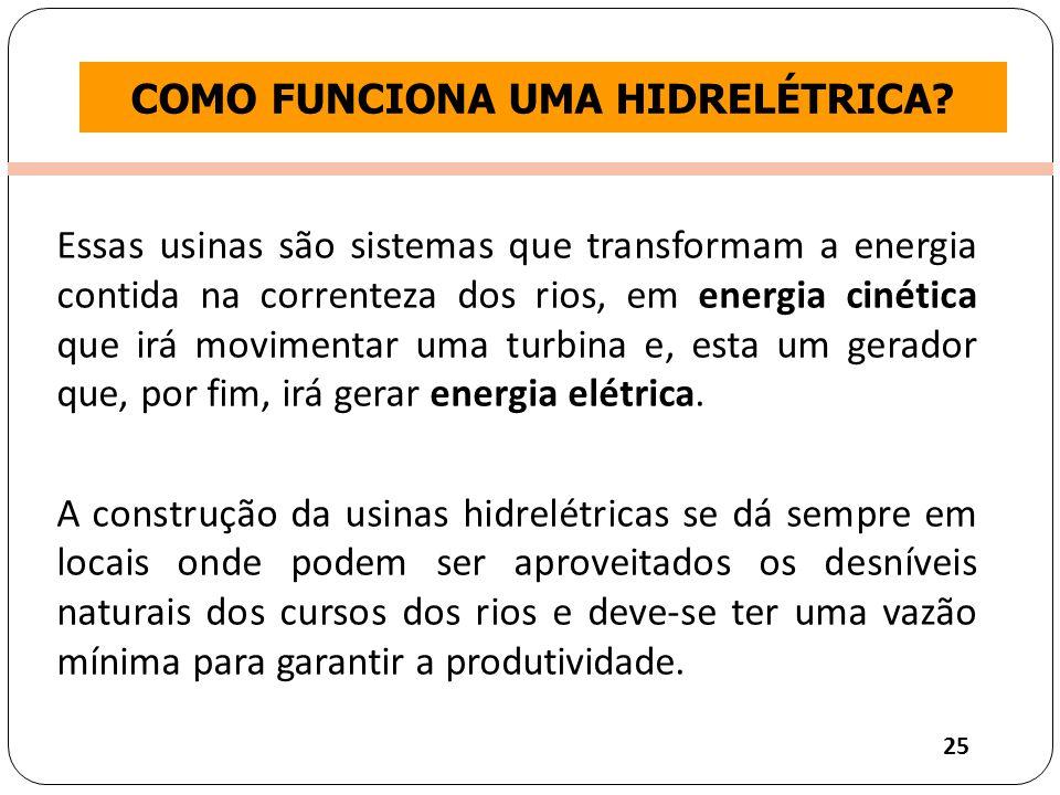 Clique para editar o estilo do título mestre COMO FUNCIONA UMA HIDRELÉTRICA.
