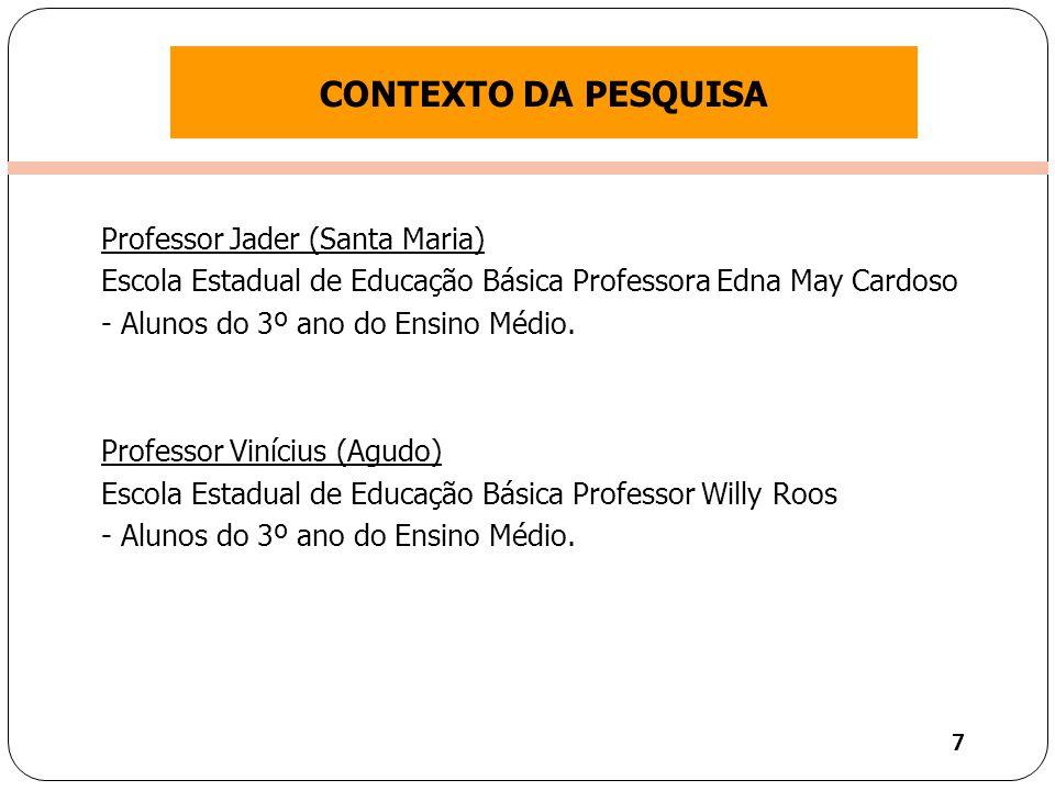 Clique para editar o estilo do título mestre Professor Jader (Santa Maria) Escola Estadual de Educação Básica Professora Edna May Cardoso - Alunos do 3º ano do Ensino Médio.