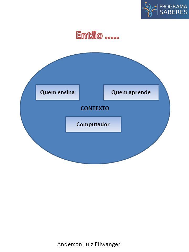 CONTEXTO Anderson Luiz Ellwanger Quem ensinaQuem aprende Computador