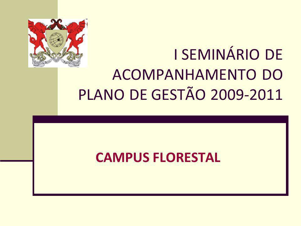 I SEMINÁRIO DE ACOMPANHAMENTO DO PLANO DE GESTÃO 2009-2011 CAMPUS FLORESTAL