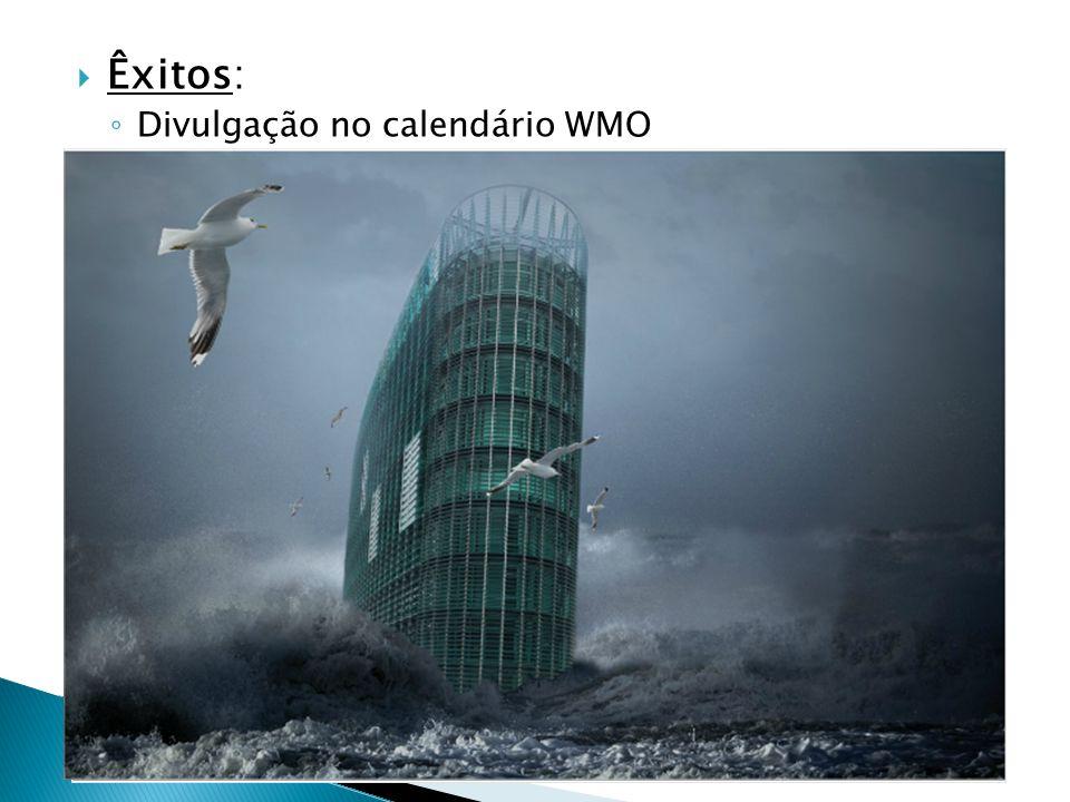 Êxitos: Divulgação no calendário WMO