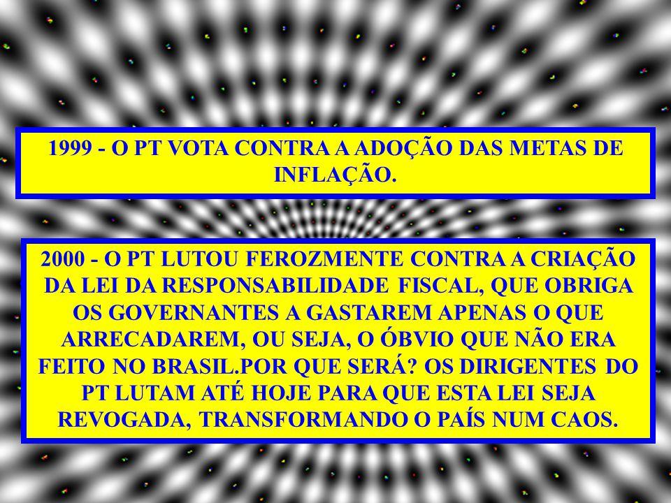 1994 - O PT VOTA CONTRA O PLANO REAL E DIZ QUE A MEDIDA É ELEITOREIRA.
