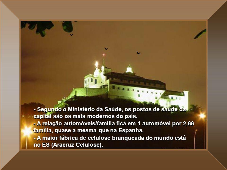 - No verão, mais de um 1.000.000 (um milhão) de turistas visitam os municípios de Guarapari, Vila Velha e Vitória. - Levando-se em consideração que a