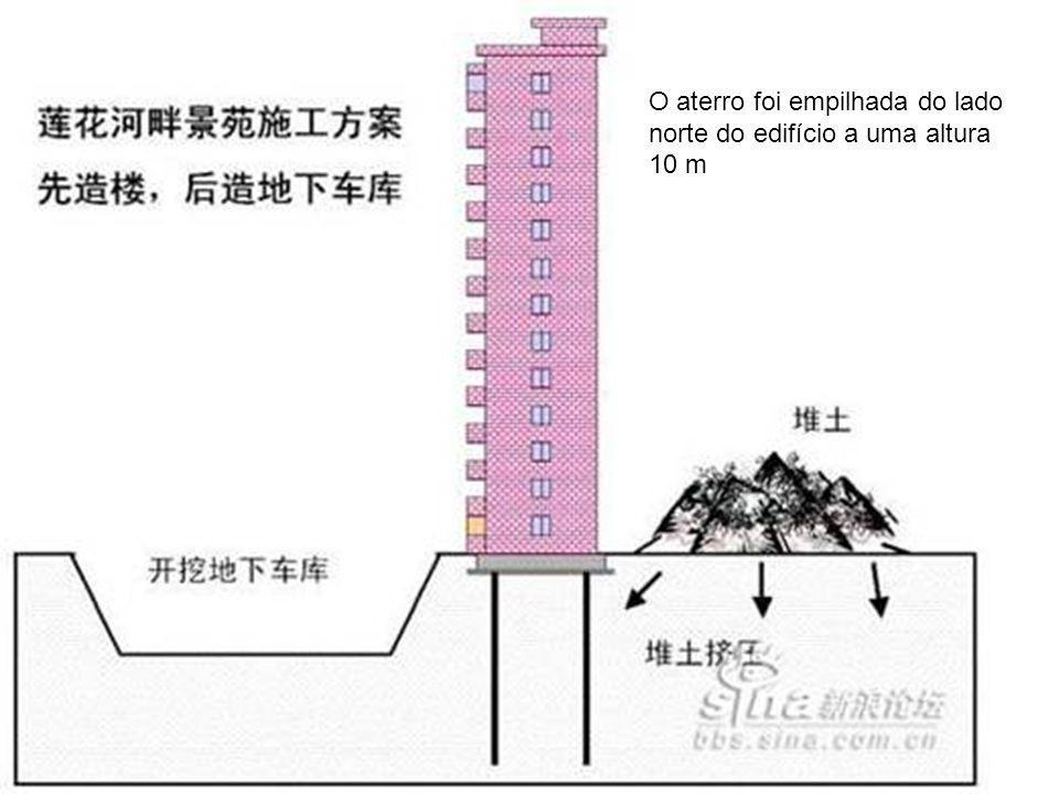 O aterro foi empilhada do lado norte do edifício a uma altura 10 m