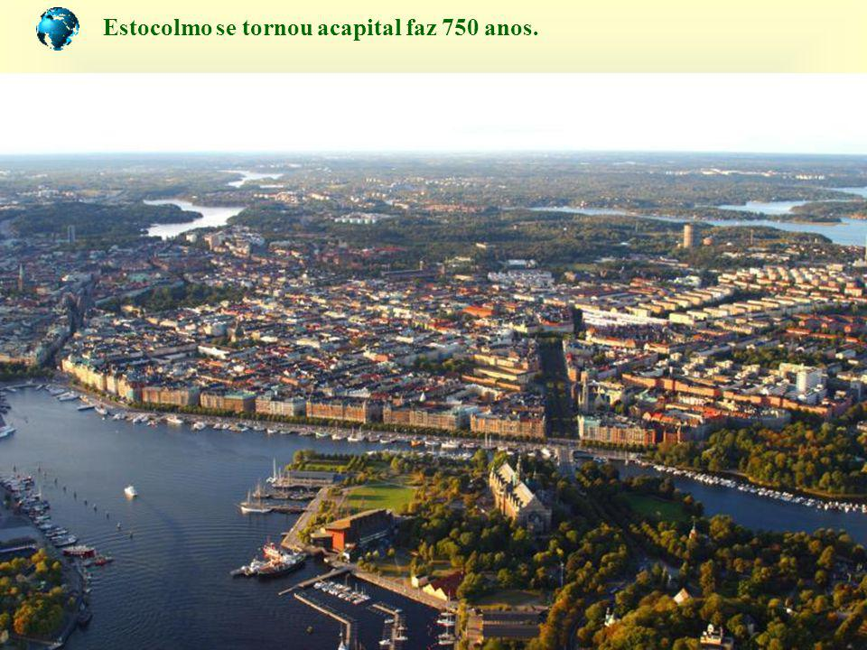 Estocolmo se tornou acapital faz 750 anos.