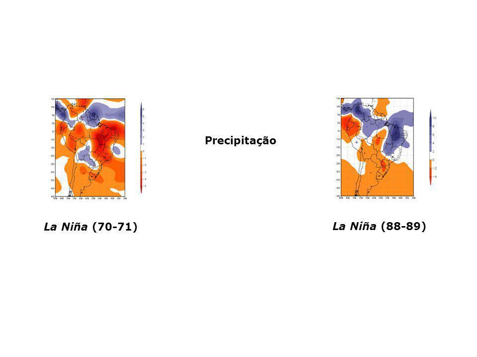 Precipitação La Niña (70-71) La Niña (88-89)