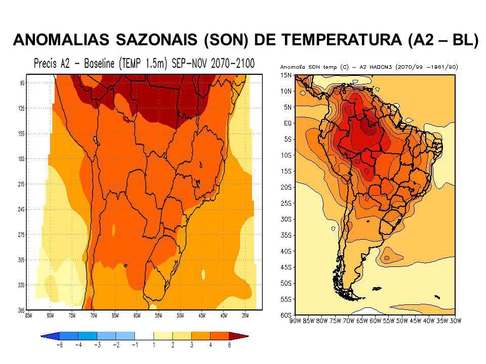 ANOMALIAS SAZONAIS (SON) DE TEMPERATURA (A2 – BL)