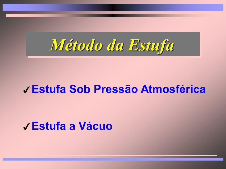 Métodos Diretos Métodos Diretos 4 Tipos: 8Estufa 8Destilação 8Outros 4 Tipos: 8Estufa 8Destilação 8Outros