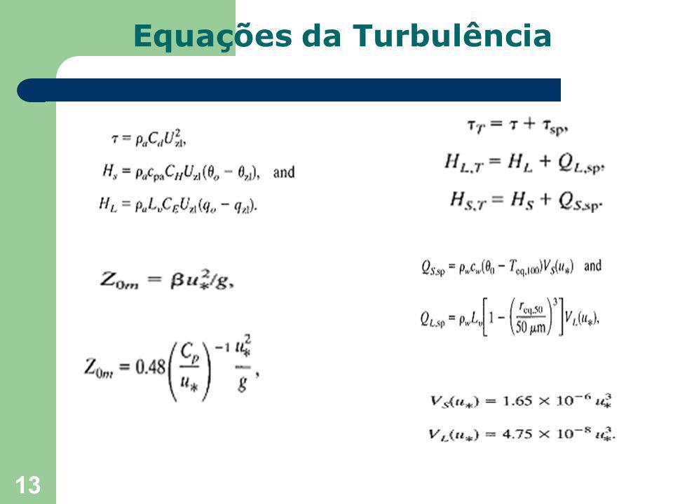 13 Equações da Turbulência
