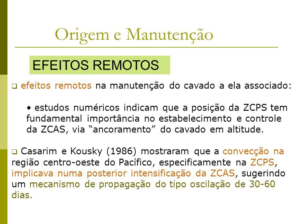 efeitos remotos na manutenção do cavado a ela associado: estudos numéricos indicam que a posição da ZCPS tem fundamental importância no estabelecimento e controle da ZCAS, via ancoramento do cavado em altitude.